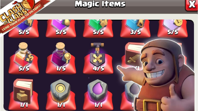 Magic Items Are overflowing , Clash of Clans...............