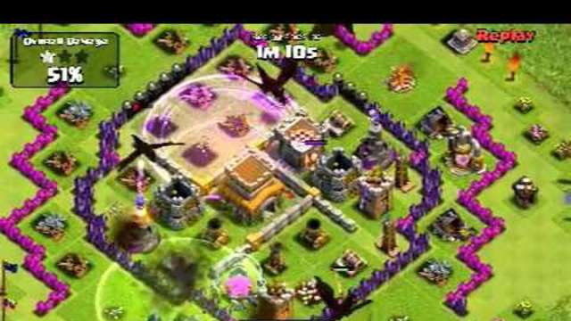 Clash of Clans - Getting wrecked by Dragons and PEKKAs - All spells used