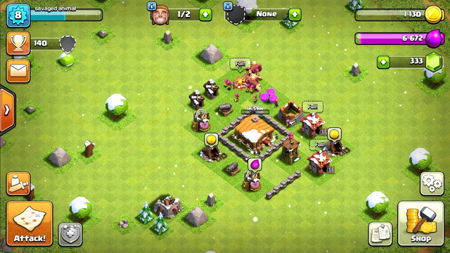 Clash of Clans: maxed out town hall 2