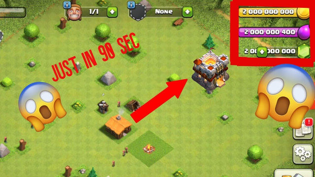 Clash of clan from Town hall  1 to Town hall 11 in just 90 sec | using private server of COC |