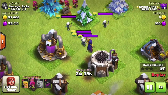 TH3 AT 2200 TROPHIES | Crystal 2 Exclusive Attacks | Clash of Clans