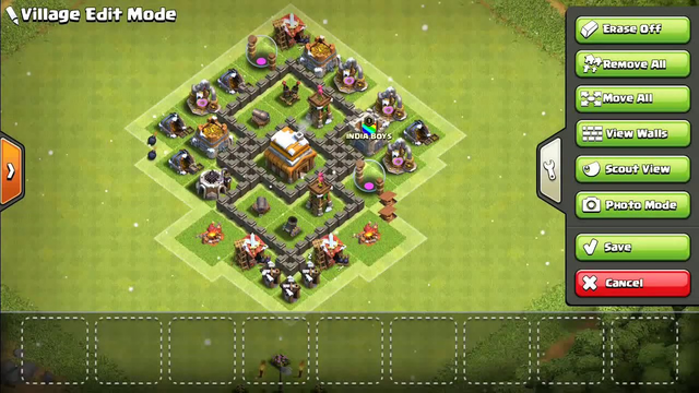 Clash of clans town hall 4#coc[TH4]