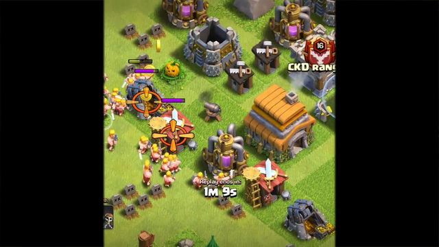 Clash of clans base town hall 4 atacking for all to an hall