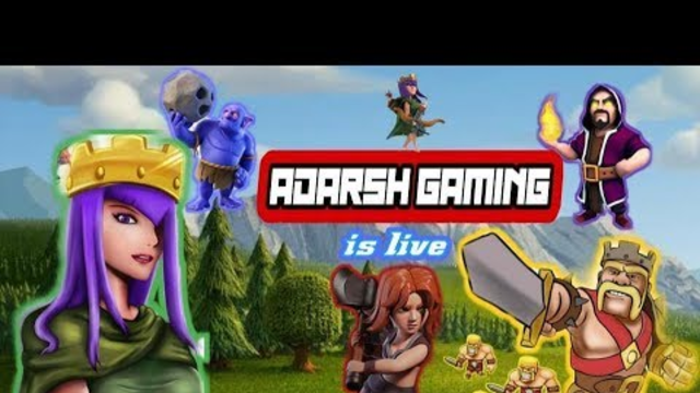 Watch me stream Clash of Clans live by ADARSH GAMING