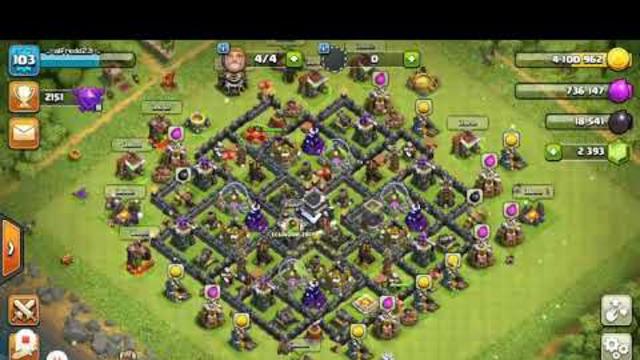Mi primer video de clash of clans y th 10