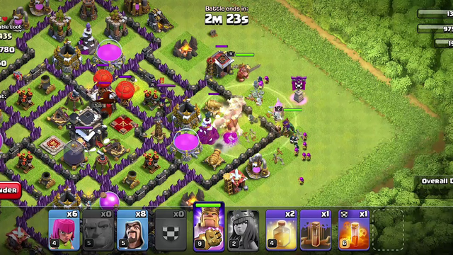 Clash of Clans Town Hall 9 Attack with Max Pekka and Gaints... 75% Attack with 2L Loot...