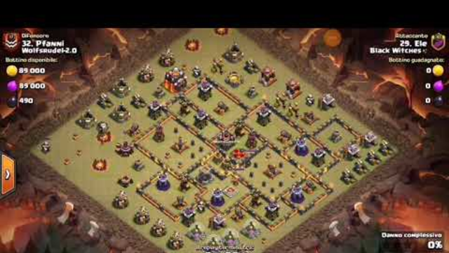 COC GREAT 3 STARS TH1O WAR ATTACK DRAGBAT THANKS TO ELE FROM CLAN BLACK WITCHES