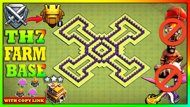 New BEST TH7 Farming Base 2020 with Link!! Town Hall 7 Base Anti Dragons - Clash of Clans