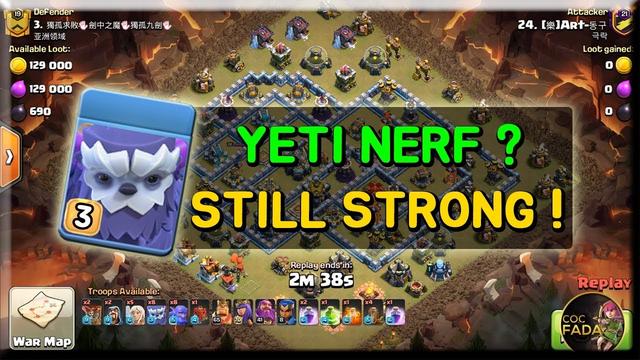Yeti Nerf? Still Strong! Yeti Smash TH13 Attack Strategy Clash of Clans Update