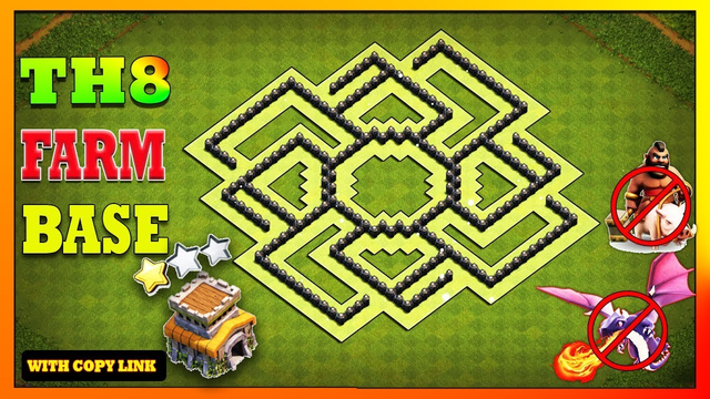 Clash Of Clans Best Town Hall 8 (TH8) Farming Base 2020 | TH8 Farming Base Anti Everything