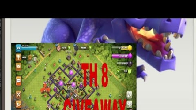 HOW TO DO DRAGLOON at TH8! Clash of Clans TH8 GIVEAWAY!
