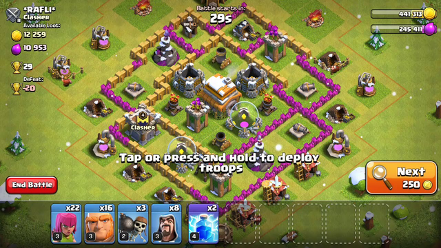Clash of clans TH6 gameplay