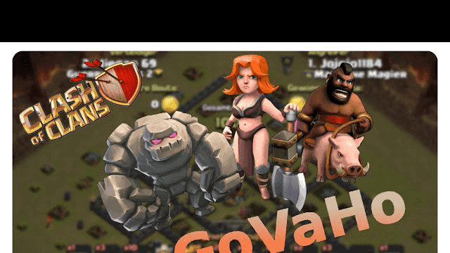 clash of clans attack strategy - govaho vs. th9 #006