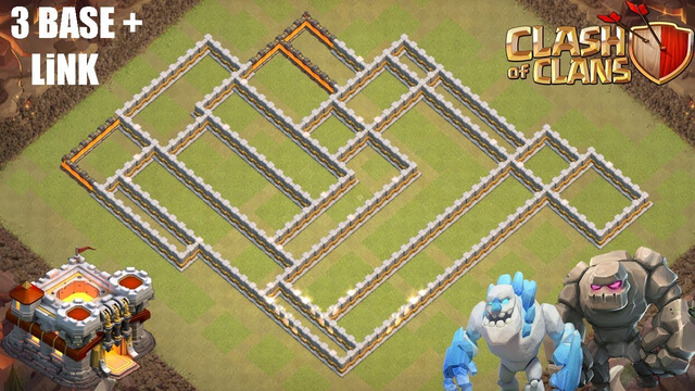 (CLASH OF CLANS) TH11 NEW *3* BASE + LiNK *War Base Design *Layout*Defense*Clash of clans
