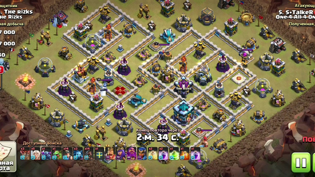 Overpowered th13 attack, 22 hogs + 16 miner /3stars | clash of clans