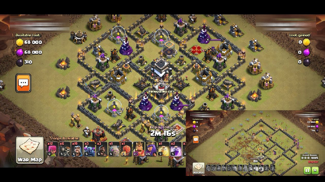 REPLAY Cara Menyerang WAR TH 9 | 3 BINTANG CLASH OF CLANS