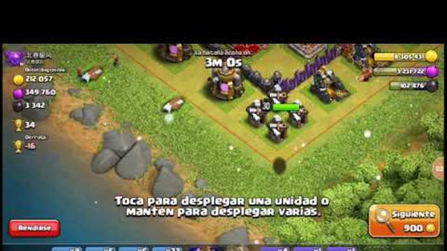 Rey barbaro al 26 leven   farming th 10  clash of clans