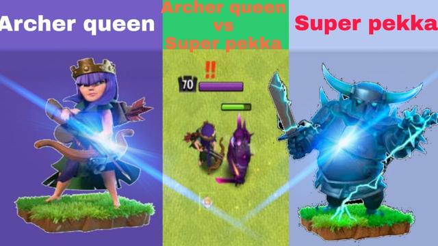 Every lvl Super Pekka vs every lvl Archer queen||Super Pekka vs Archer queen||coc||unity clash||