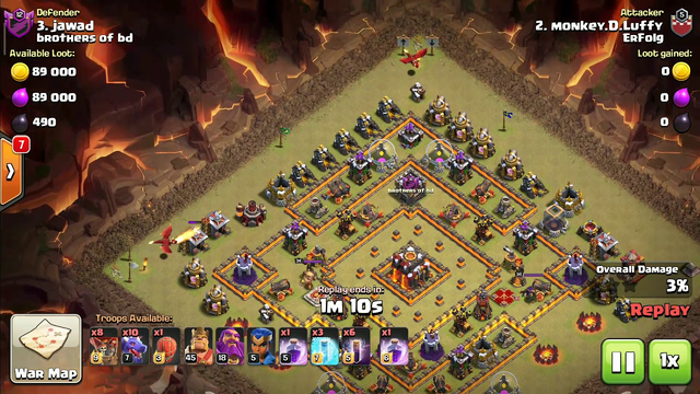 Clash of clans war attacks town hall 13/10/9