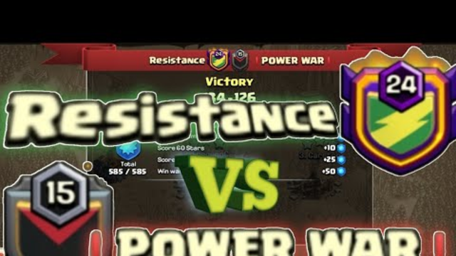 ELITE WAR | RESISTANCE vs POWER WAR | TH13 INCREDIBLE WAR ATTACKS | CLASH OF CLANS