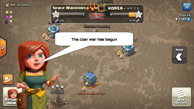 Clan war started, Clash of Clans