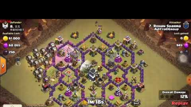 How to Destroy Th9 with Ballons|Clash Of Clans|