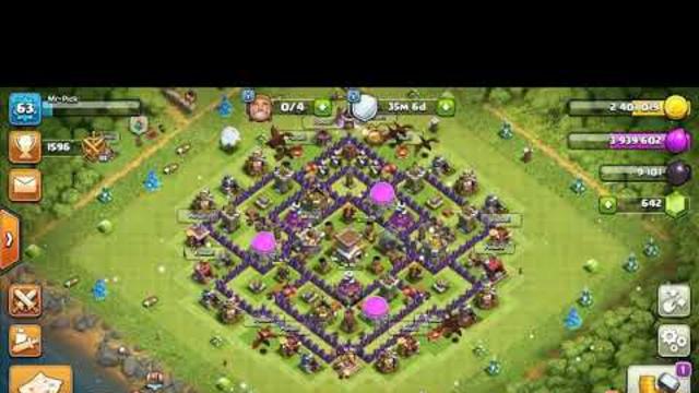 Clash Of Clans - Cara menyerang th 8 menggunakan naga!