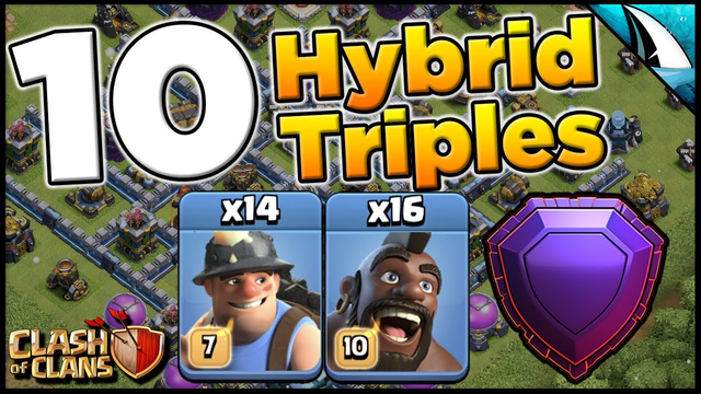 10 Triples with Hybrid Attack Strategy | Town Hall 13 | Clash of Clans