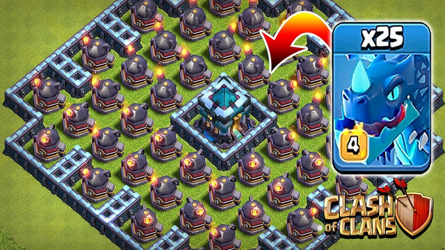 Max Electro dragon vs Max Roaster   Clash of Clans   Townhall 13 Troll base