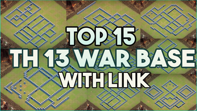 TOP 15 TOWNHALL 13 (TH13) WAR BASES WITH LINK | Clash of Clans 2020