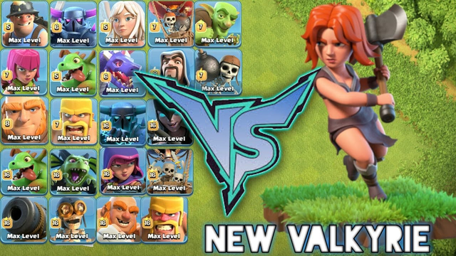 Max Valkyrie Vs Every Single Ground Troops | Intense Battle - Clash of clans