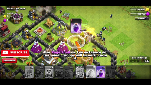 Clash of Clans| GOWIPE STRATEGY| TOWNHALL 8