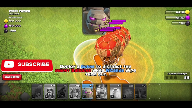 Clash of Clans| PEVAWI+GOLEM| STRATEGY TOWNHALL 8 MAX