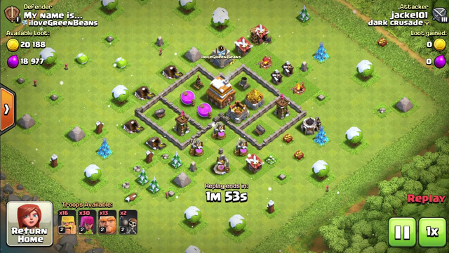 Clash Of Clans TH5 LOOT RUN