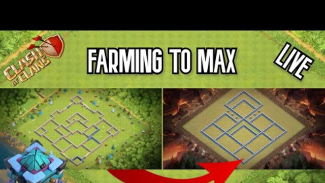 FARMING WITH MAX MINERS AND HOGS - LIVE BASE REVIEW - FARMING TO MAX TOWN HALL 13 - Clash of Clans