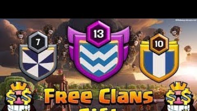 FREE CLAN GIVE AWAY level 7 - Clash Of Clans