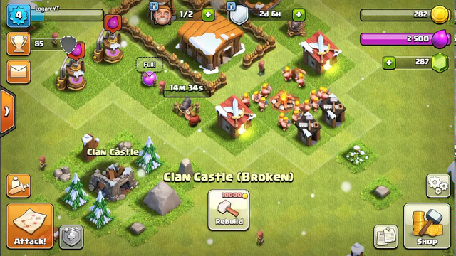 Clash of clans series (EP2) ATTACKING AND UPGRADING