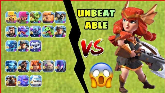 QUEEN vs ALL TROOPS | CLASH OF CLANS | KING OF COC