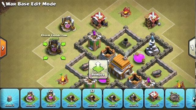 Clash of clans Hybrid bad town hall 5