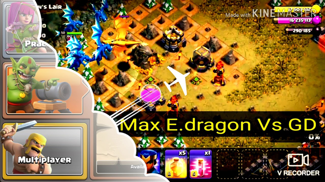 Clash of clans | Max TROOPS Vs GOLDEN DRAGON [th13] Gameplay