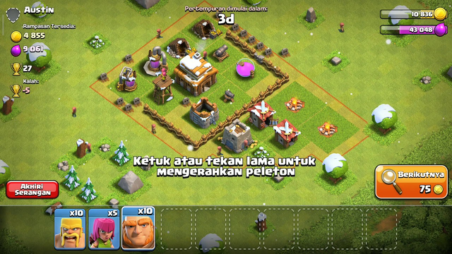 Stolen more coins TH3 Clash Of Clans