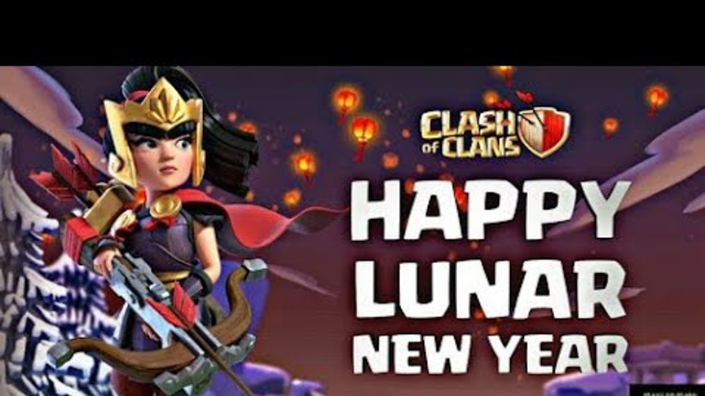 Luner New Year Story time!!!!!EXCLUSIVE Warior Queen Skin ( Clash of Clans)