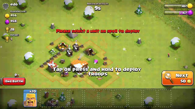 Clash of clans/2nd townhall attacked 4th townhall|Victory with 1 star|saabsardar01