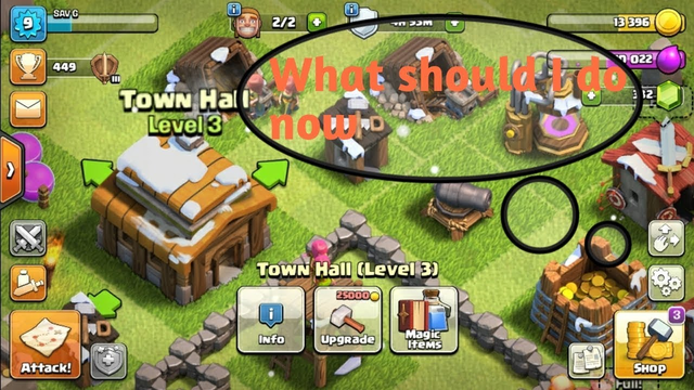 We have upgraded to th 3 base clash of clans